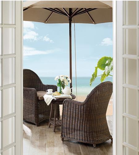 海景别墅东南亚风格阳台