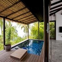 异域风情海景别墅游泳池设计装修效果图