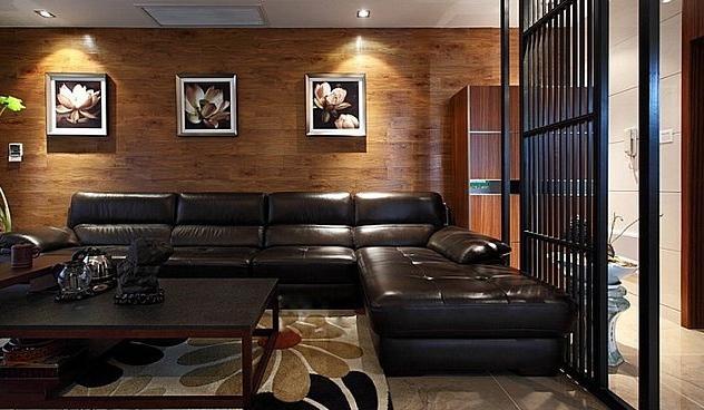 新中式风格三居室设计装修效果图图片