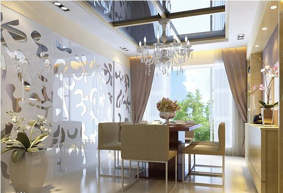 餐厅与客厅创意隔断设计装修效果图