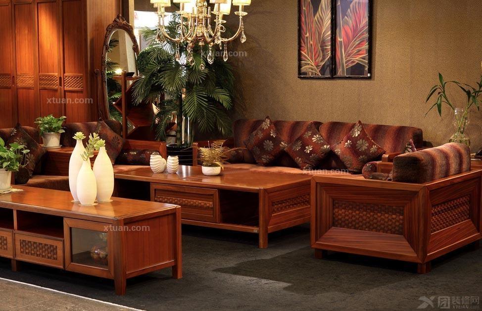 打造中式红木家具欣赏装修效果图