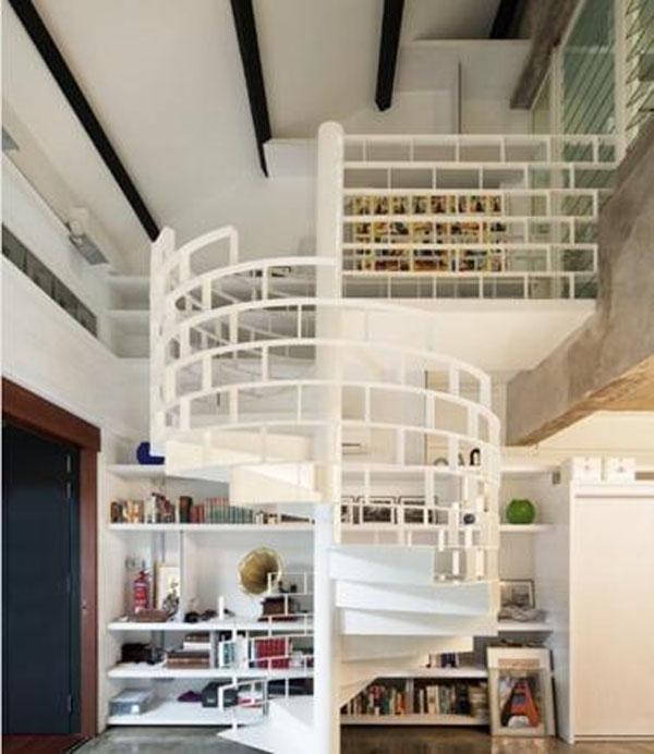 跃层楼梯的装修效果图