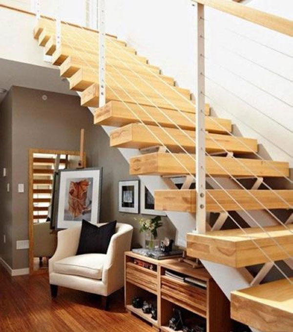 跃层楼梯的分类有哪些装修效果图
