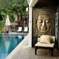 别墅休闲区露天泳池设计装修效果图