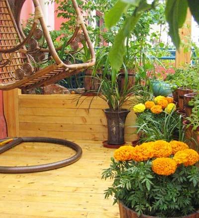 阳台花园打造花香空气装修效果图