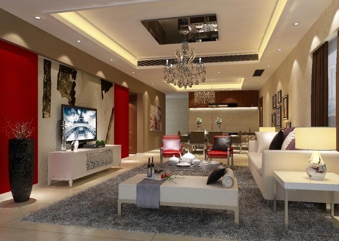 美式风格客厅_美式风格大户型客厅设计