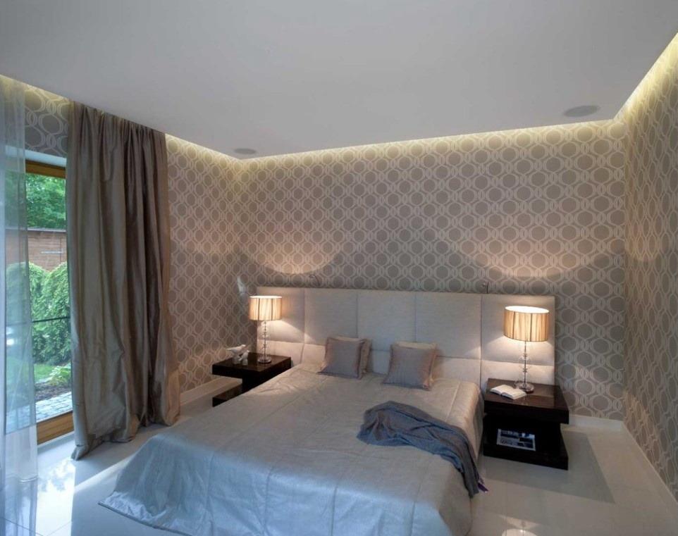 a卧室卧室背景墙装修效果图床头有窗的装修图