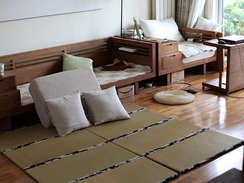 日式榻榻米打造别样的客厅装修效果图