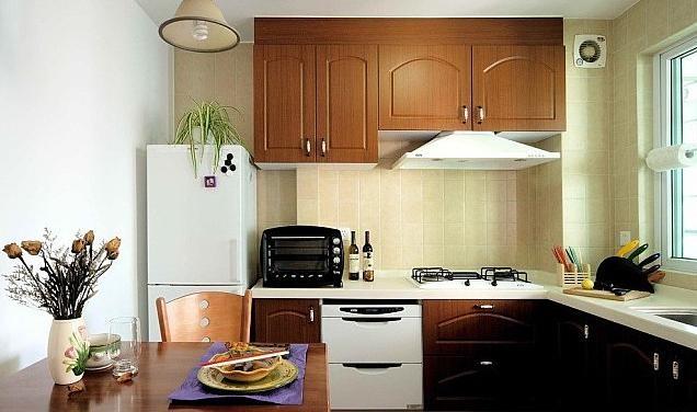 甜美清新田园复式楼厨房设计装修效果图图片