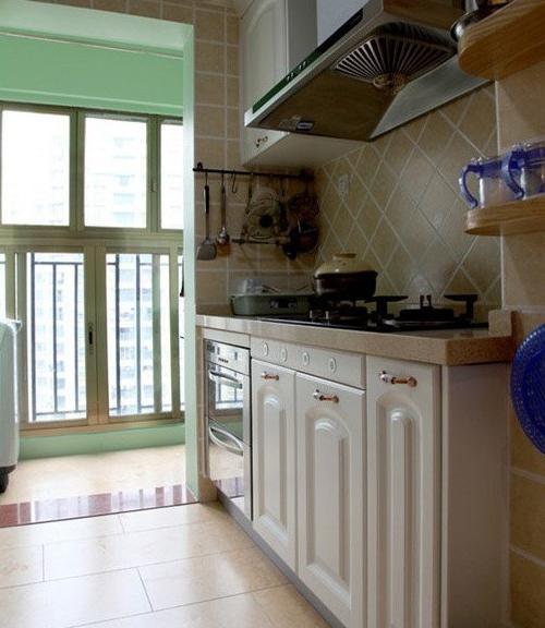 田园风格两居室厨房设计装修效果图