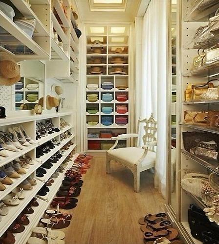 三室一厅简欧风格衣帽间