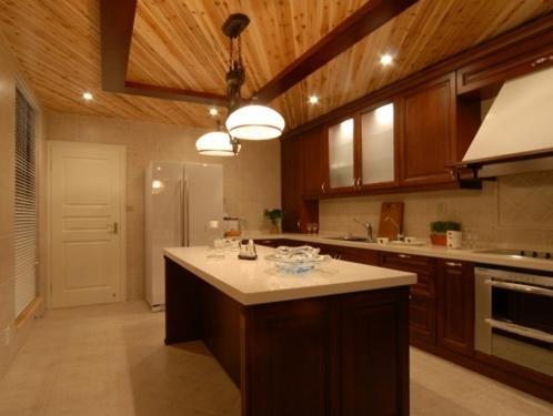 洛可可风格开放式厨房装修效果图