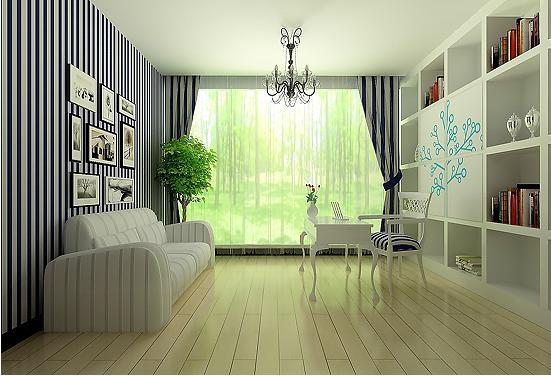 一室一厅地中海风格书房