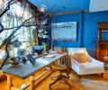 创意时尚地中海风格书房装修效果图