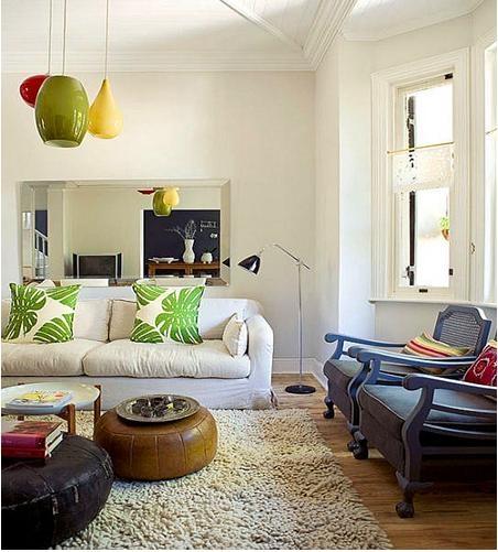 复式楼混搭风格客厅沙发背景墙