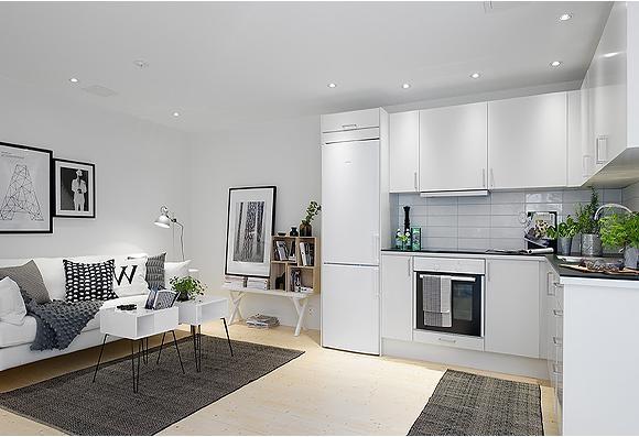 二手房现代简约厨房开放式厨房