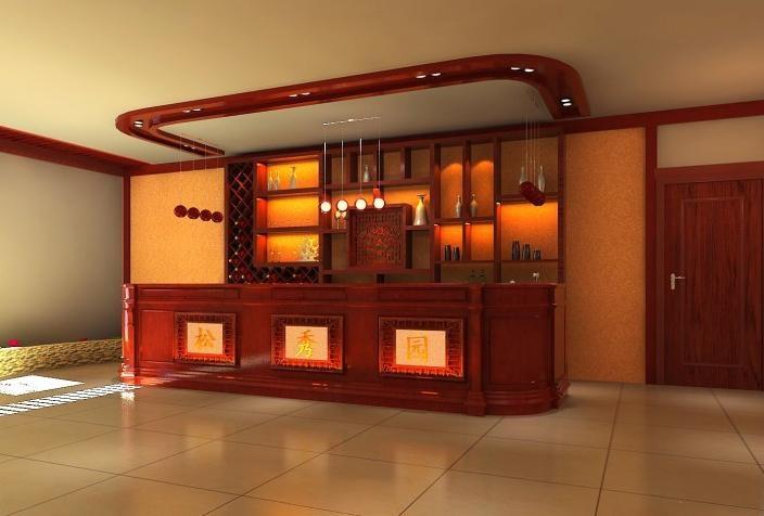 中式风格宾馆装修效果图