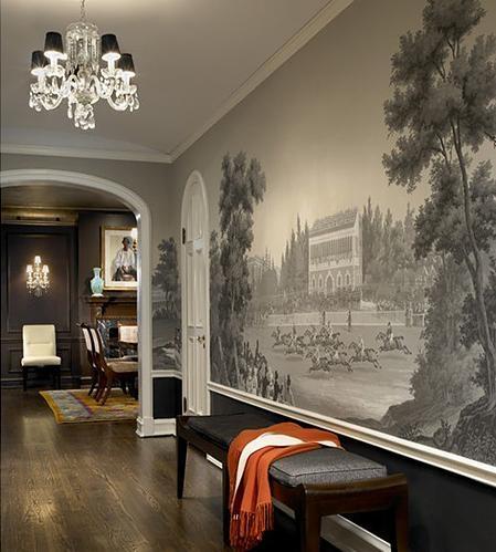 中式风格客厅沙发背景墙