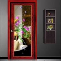 艺术玻璃门装修效果图