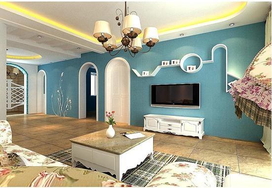 地中海风格客厅影视墙