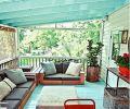 海蓝色的阳台实景图装修效果图