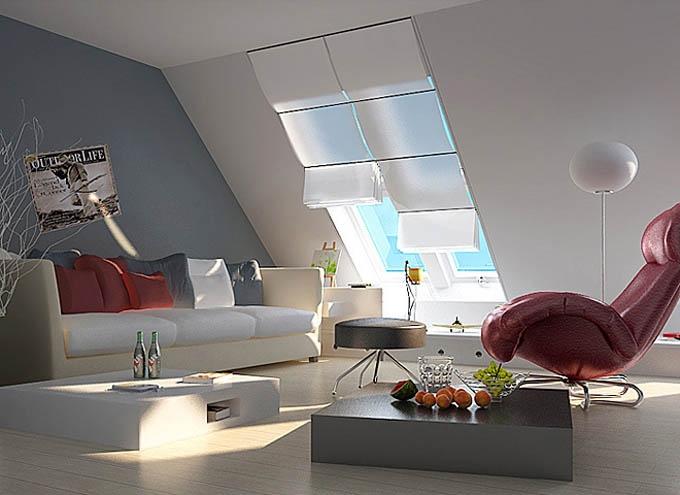 阁楼时尚迷你客厅欣赏装修效果图