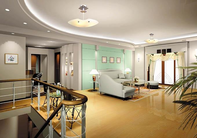 复式楼现代简约客厅