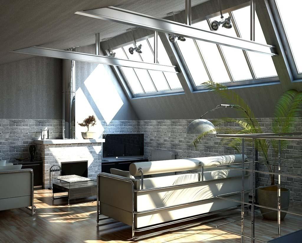 LOFT欧式风格阁楼沙发背景墙