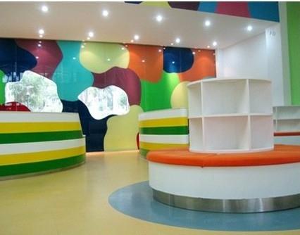 多彩的幼儿园教室布置装修效果图