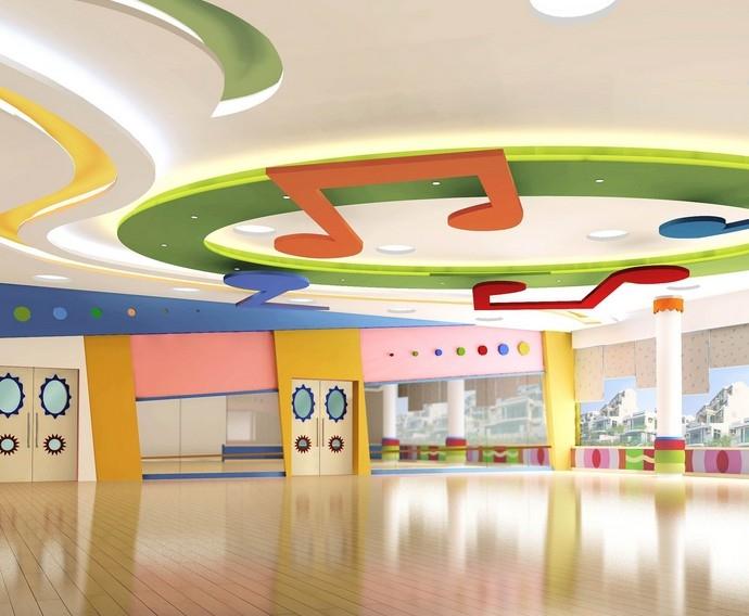 幼儿园教室吊顶环境布置 设计本装修效果图