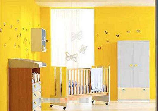 健康活泼的婴儿房颜色装修效果图