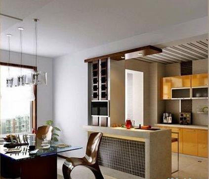 现代简约厨房隔断
