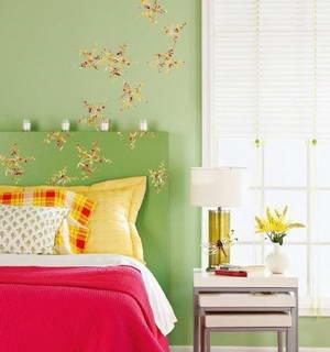 中式风格小卧室卧室背景墙