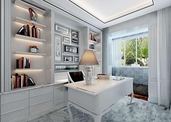 别墅室内装潢设计图片 客厅餐厅书房图片