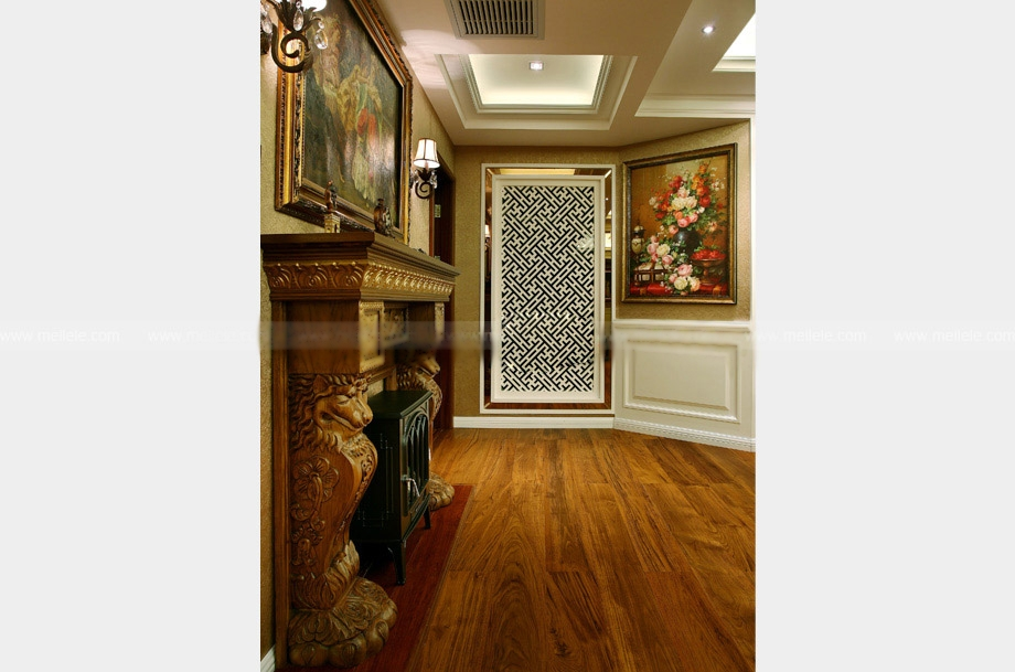 三居室美式风格客厅隔断