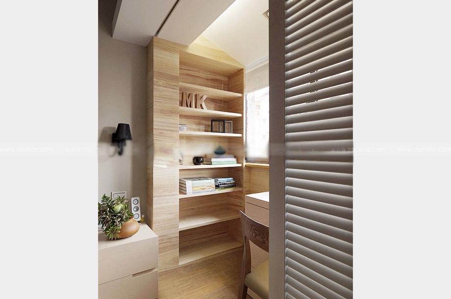 三居室现代风格书房隔断