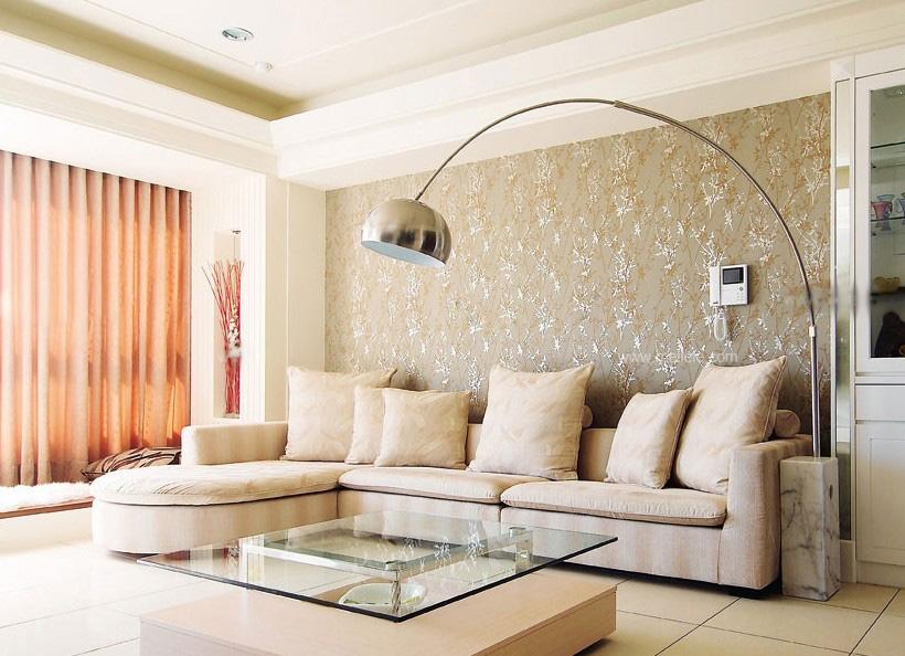 一室一厅现代风格客厅沙发背景墙