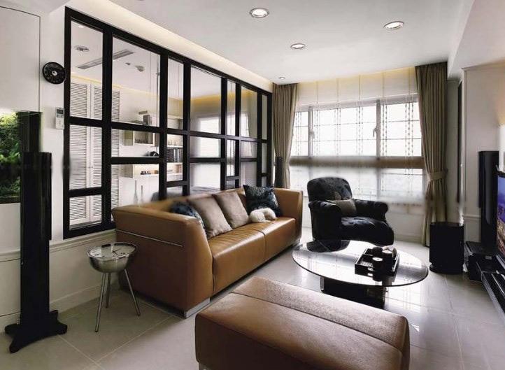 一室一厅古典风格客厅沙发背景墙