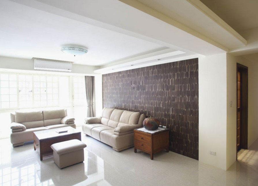 一室一厅简约风格客厅电视背景墙