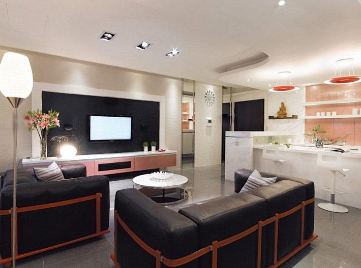 一室一厅北欧风格客厅电视背景墙