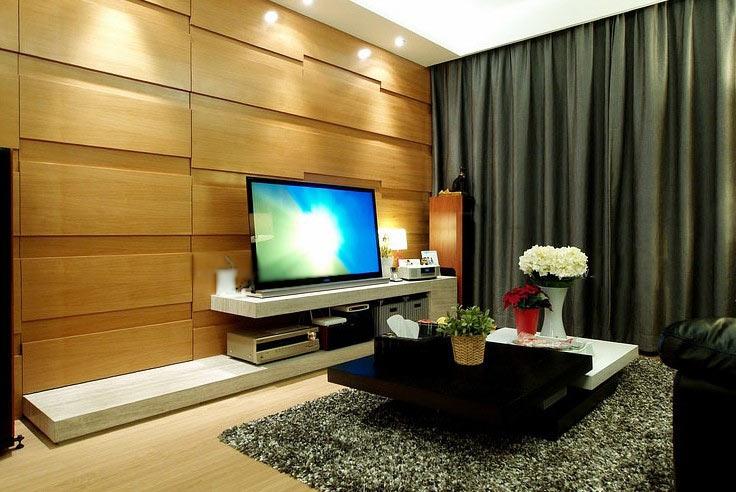 一室一厅时尚风格客厅电视背景墙