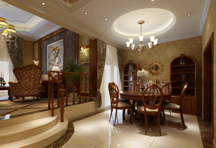复式楼欧式风格餐厅