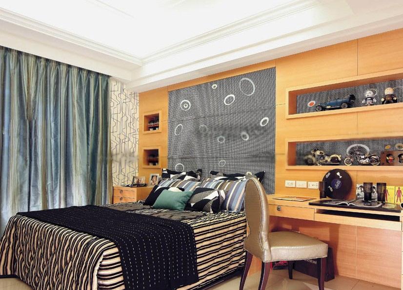 别墅欧式风格婴儿房卧室背景墙