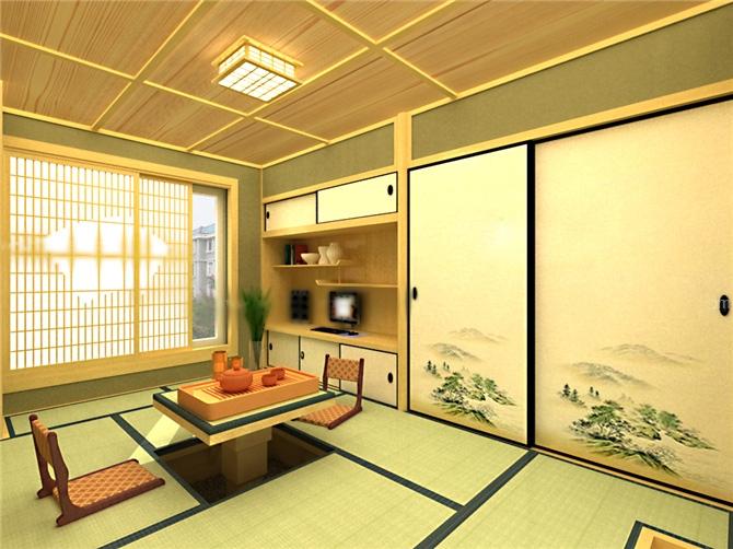 别墅日式风格卧室榻榻米