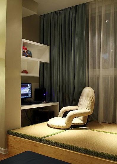 别墅现代风格卧室榻榻米