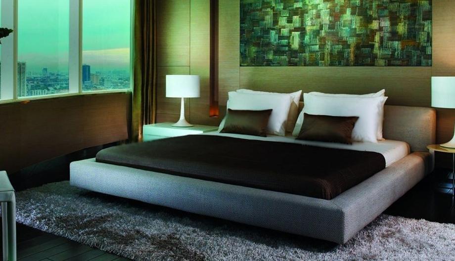 三居室现代风格卧室榻榻米