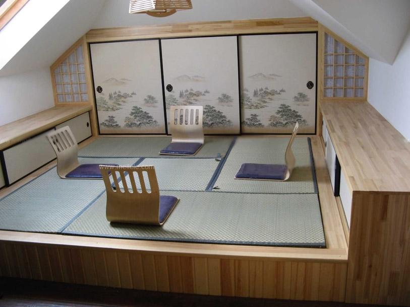 三室两厅日式风格客厅榻榻米