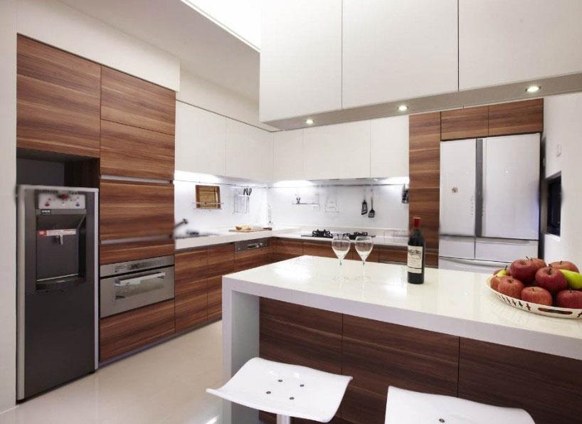 大户型现代风格厨房_厨房吧台现代风格厨房