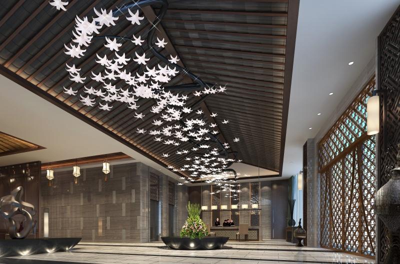 宾馆大厅设计效果图