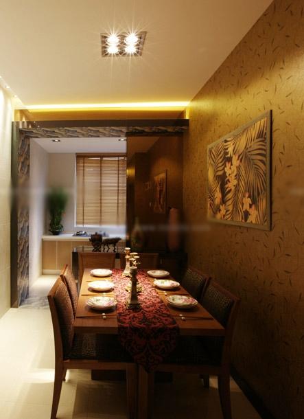 复式楼东南亚风格餐厅